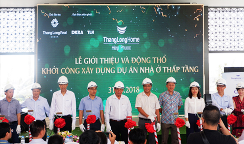 The groundbreaking ceremony of Thang Long Home - Hiep Phuoc