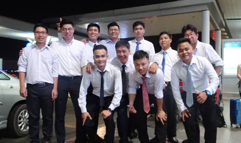 Phan Vu staff to train the professional skills in Japan