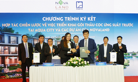 Signing ceremony between Phan Vu and Novaland